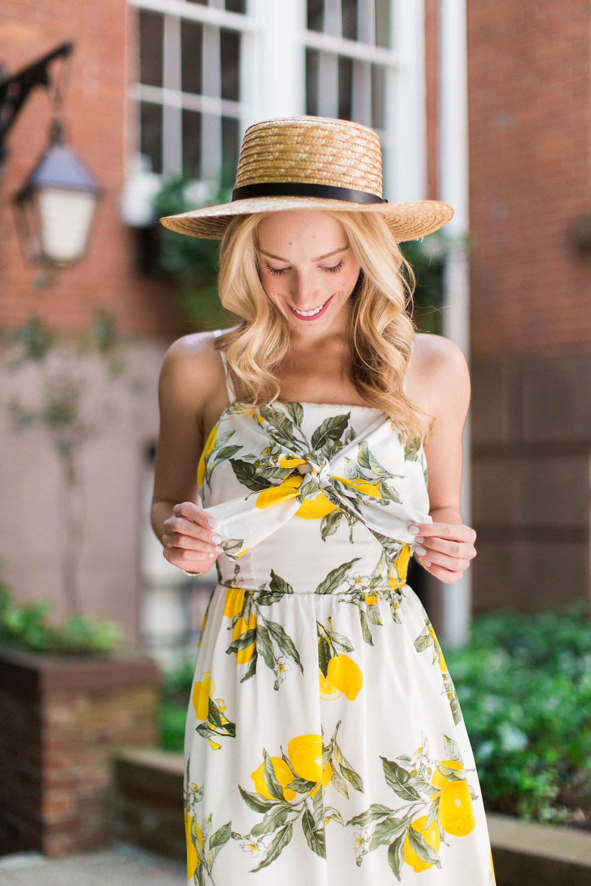 Lemon Print Cocktail Dress