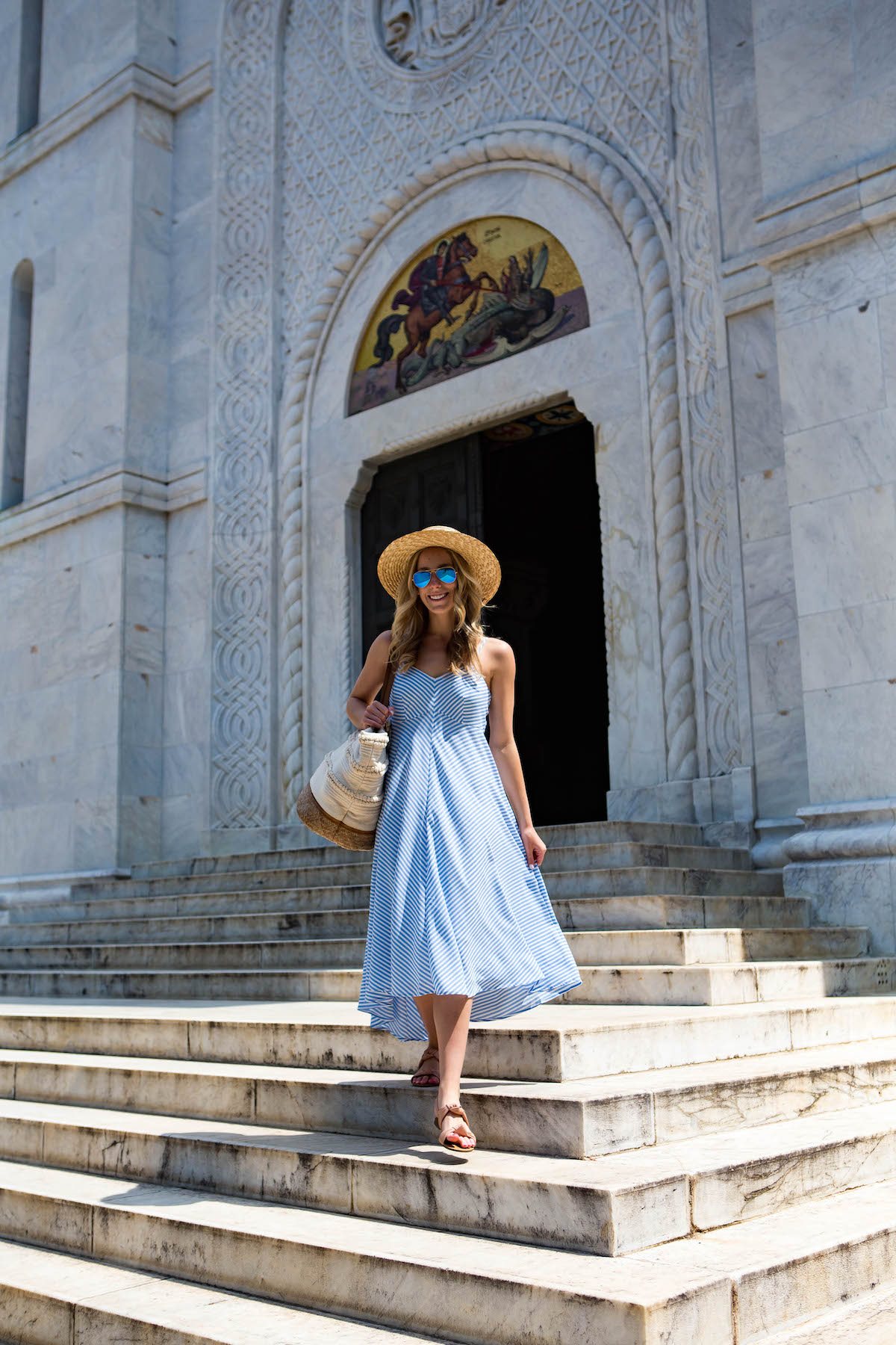 Taylor Dresses Stripe High Low Dress