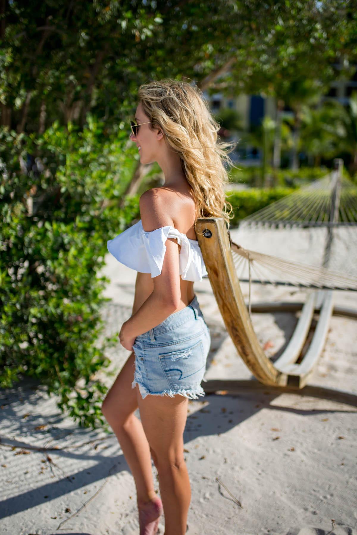 White Off The Shoulder Bikini