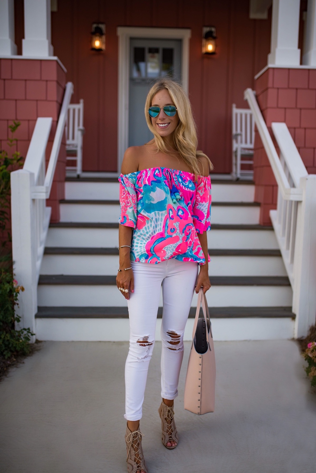 7ad065d88b7 Lilly Pulitzer Off The Shoulder Top | Katie's Bliss