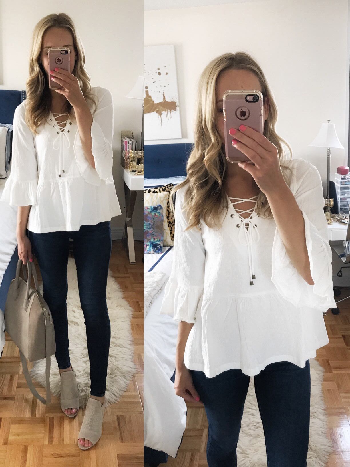 Moon River Bell Sleeve Top