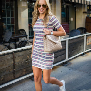 Madewell Stripe Rib Knit Minidress