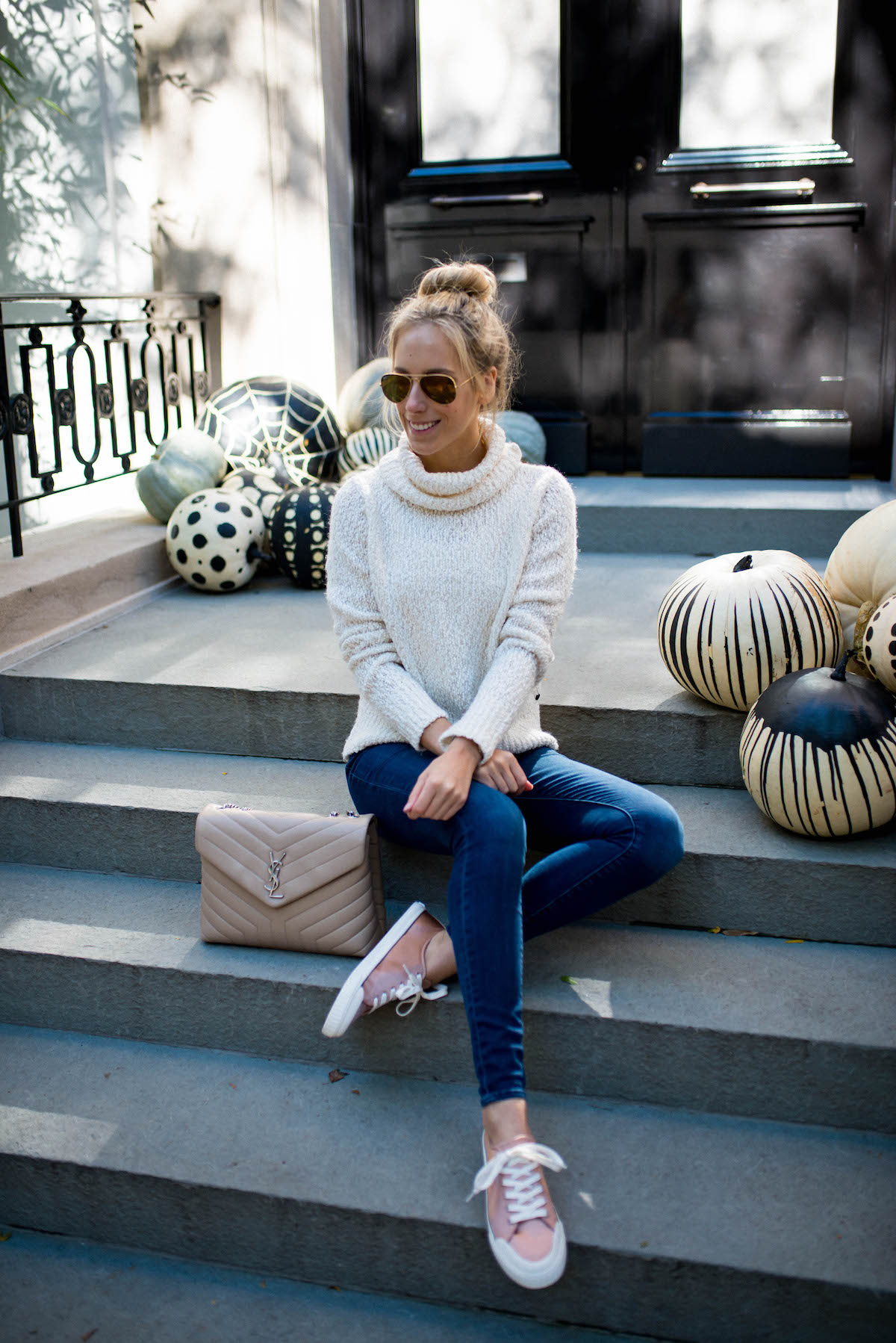 White Turtleneck Sweater