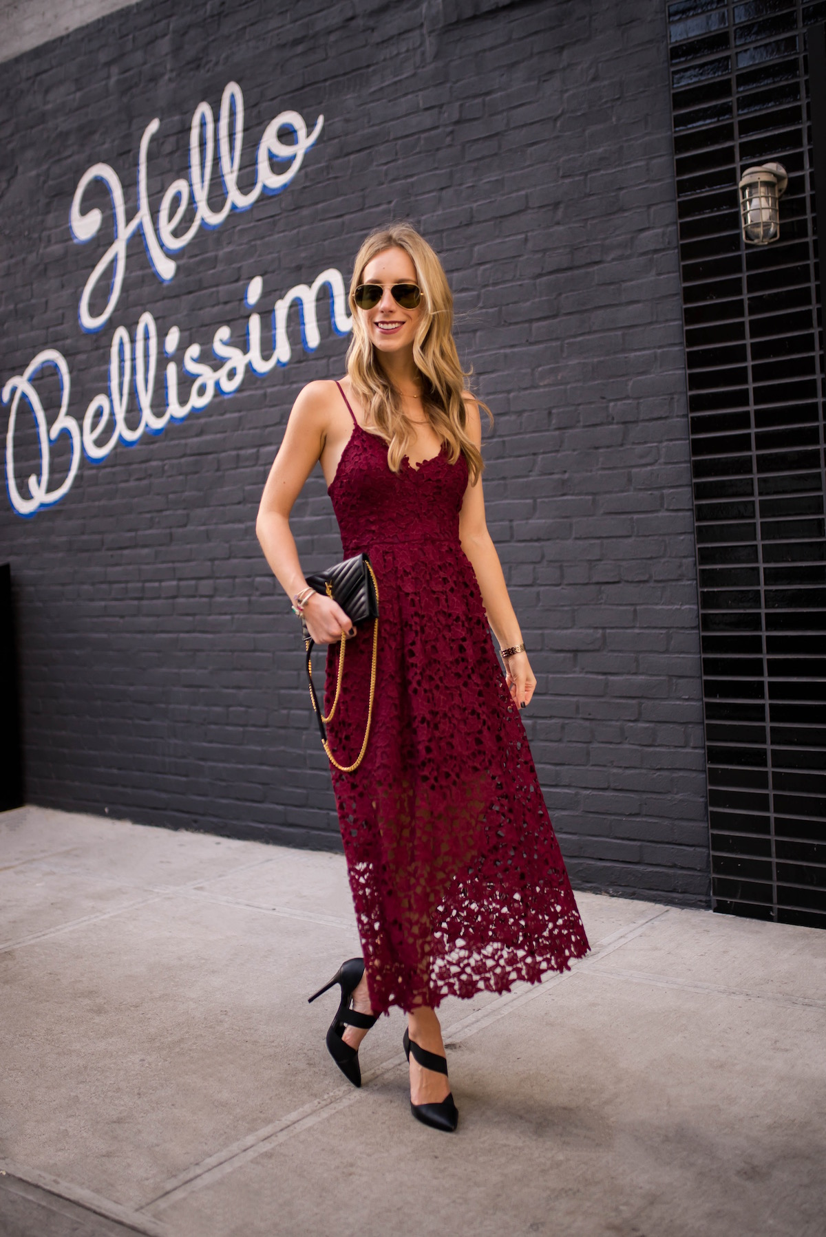ASTR Lace Midi Dress