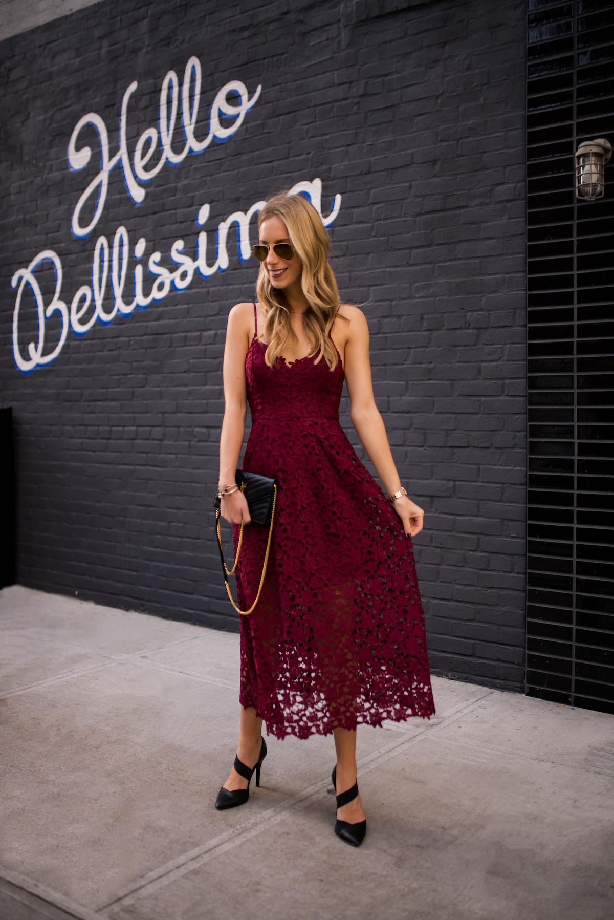 ASTR Lace Midi Dress