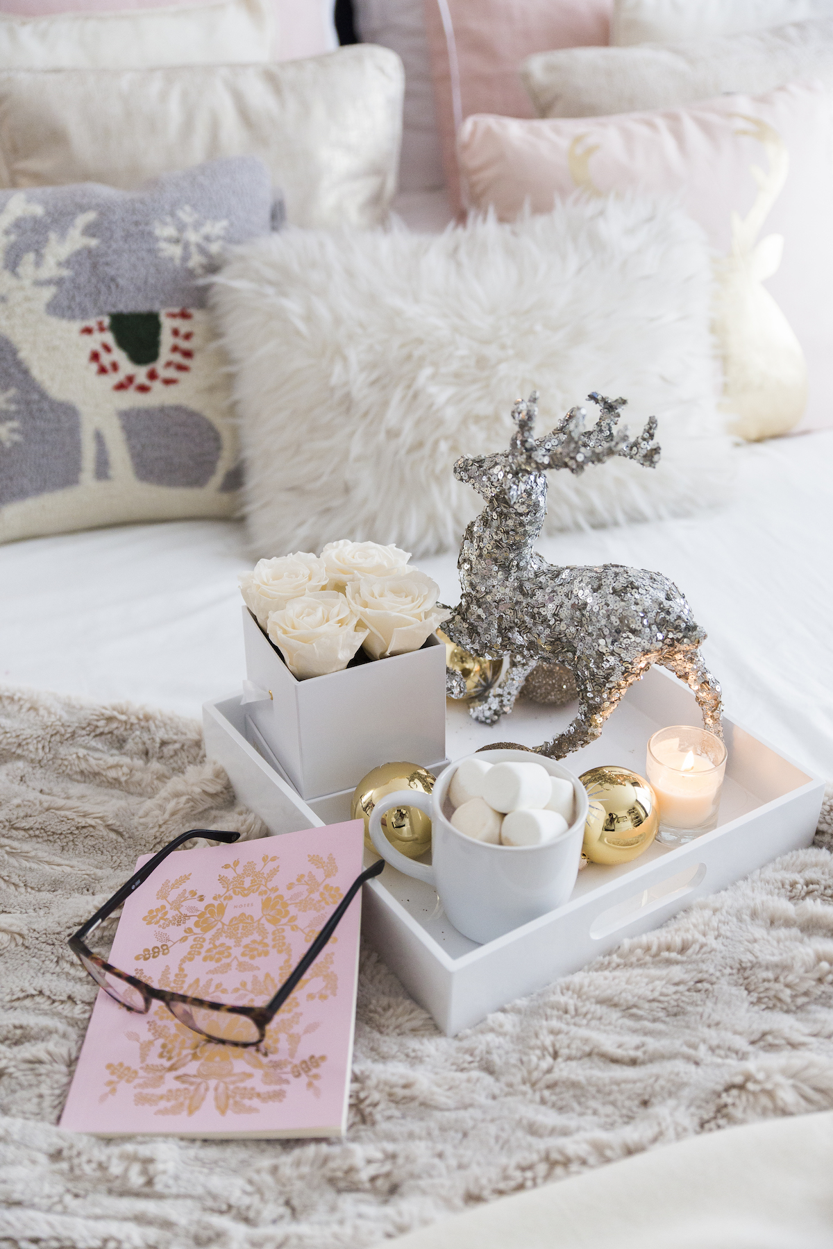 Cozy Holiday Decorative Tray