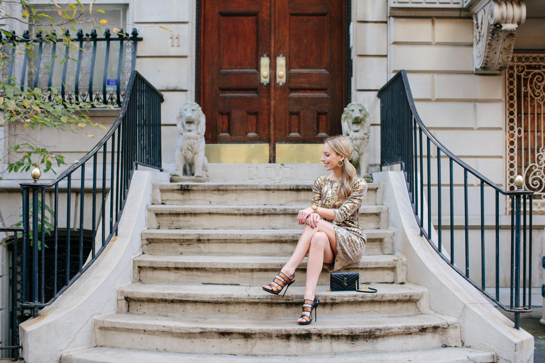 Eliza J Sequin & Velvet Sheath Dress