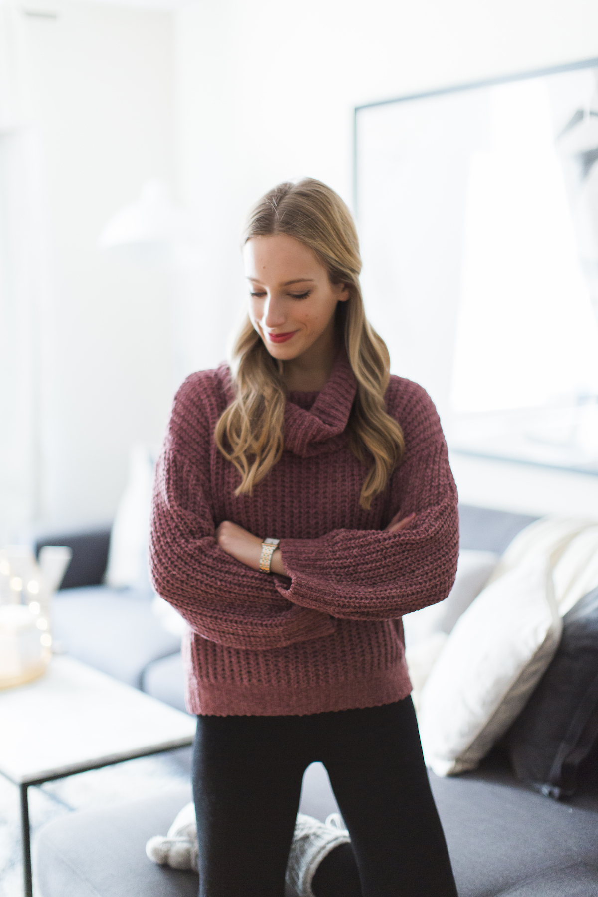 Express Chenille Cowl Neck Sweater