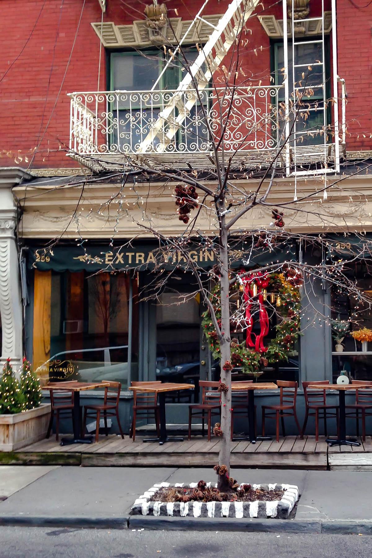 Extra Virgin Restaurant | New York City Holiday Guide
