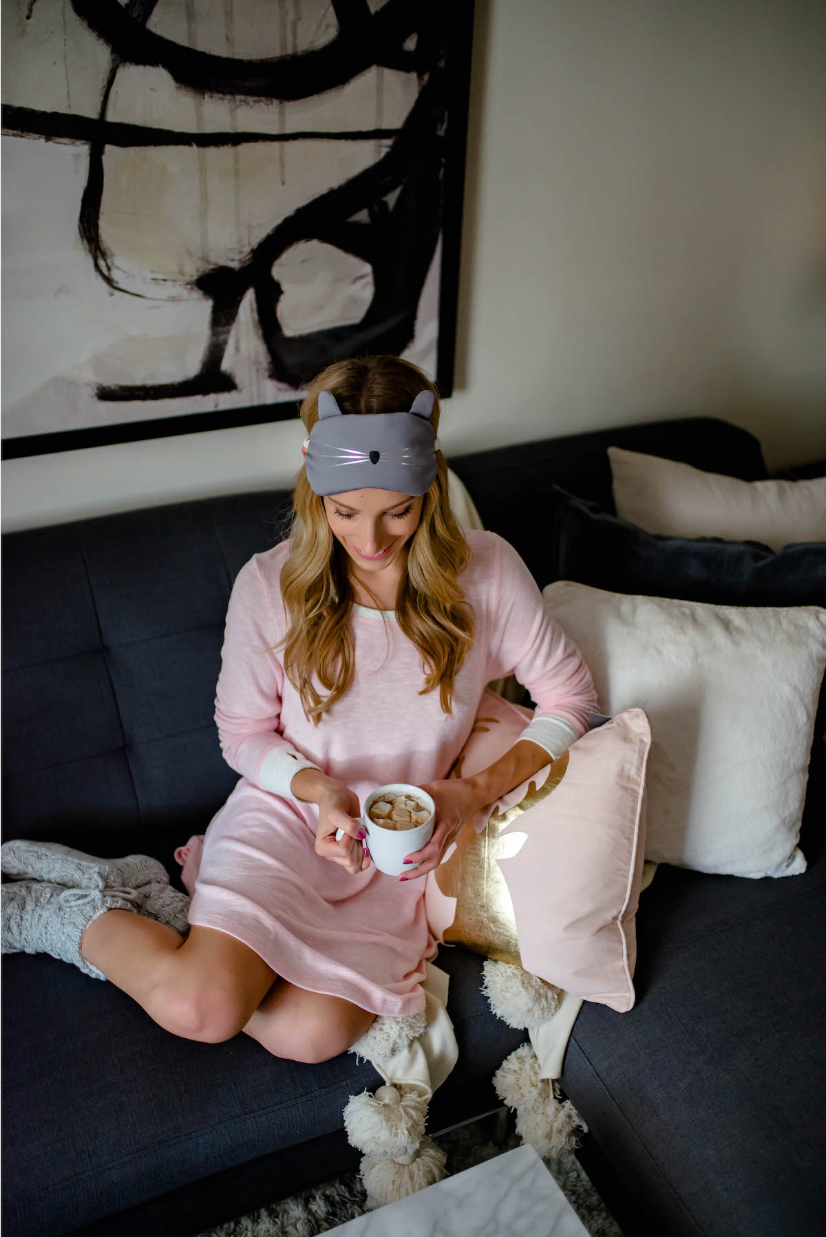 Holiday Nightgown with Sleep Mask