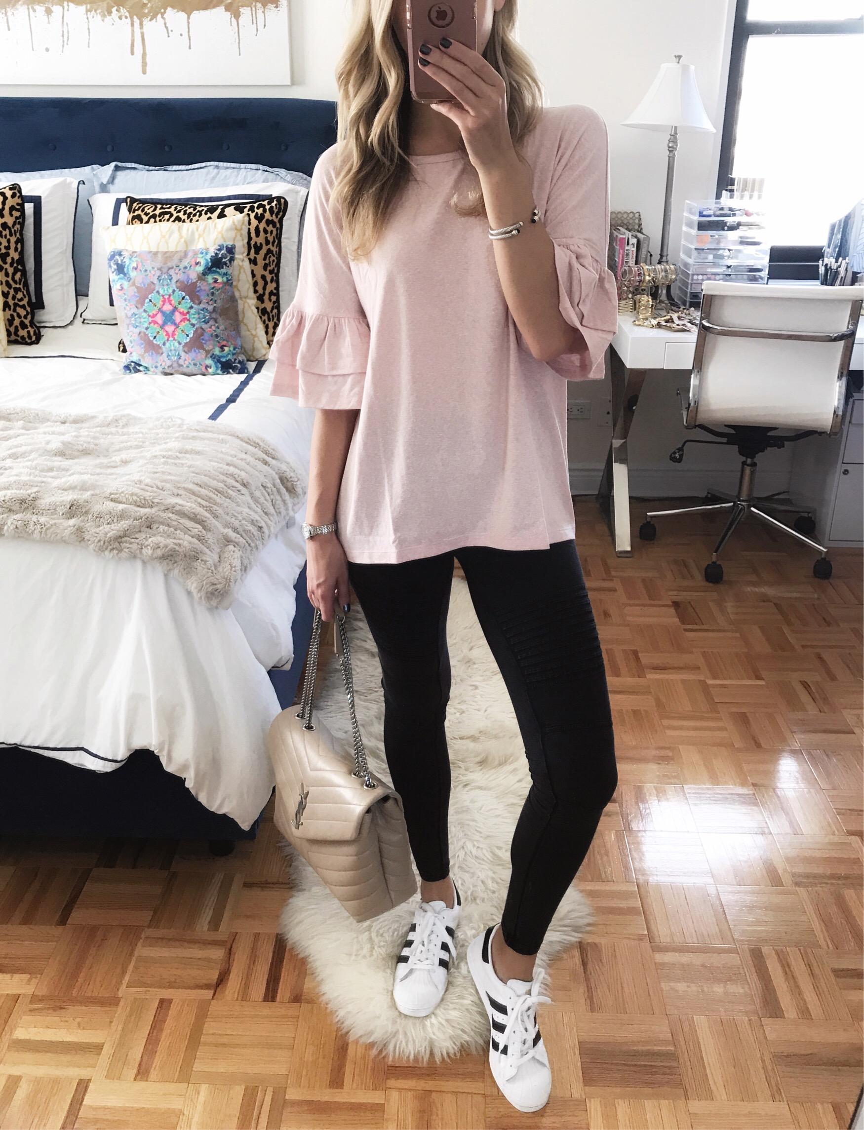 Pink Bell Sleeve T-Shirt