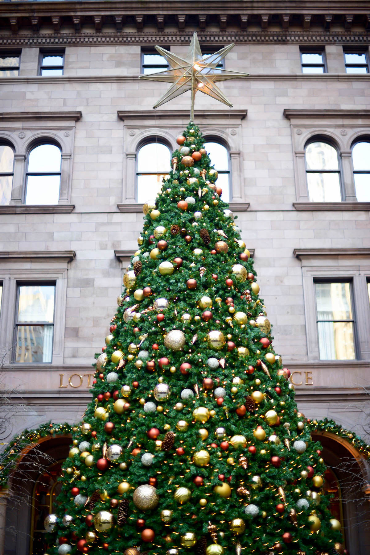 Lotte New York Palace Hotel Christmas Tree | New York City Holiday Guide