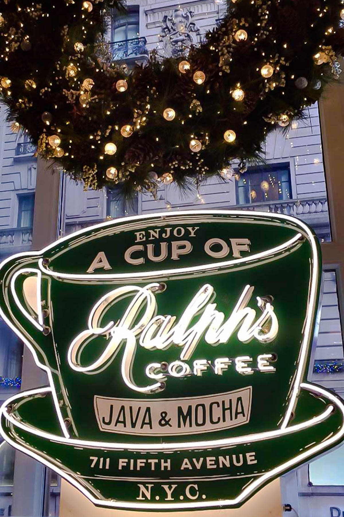 Ralph's Coffee Shop Holiday Decorations | New York City Holiday Guide