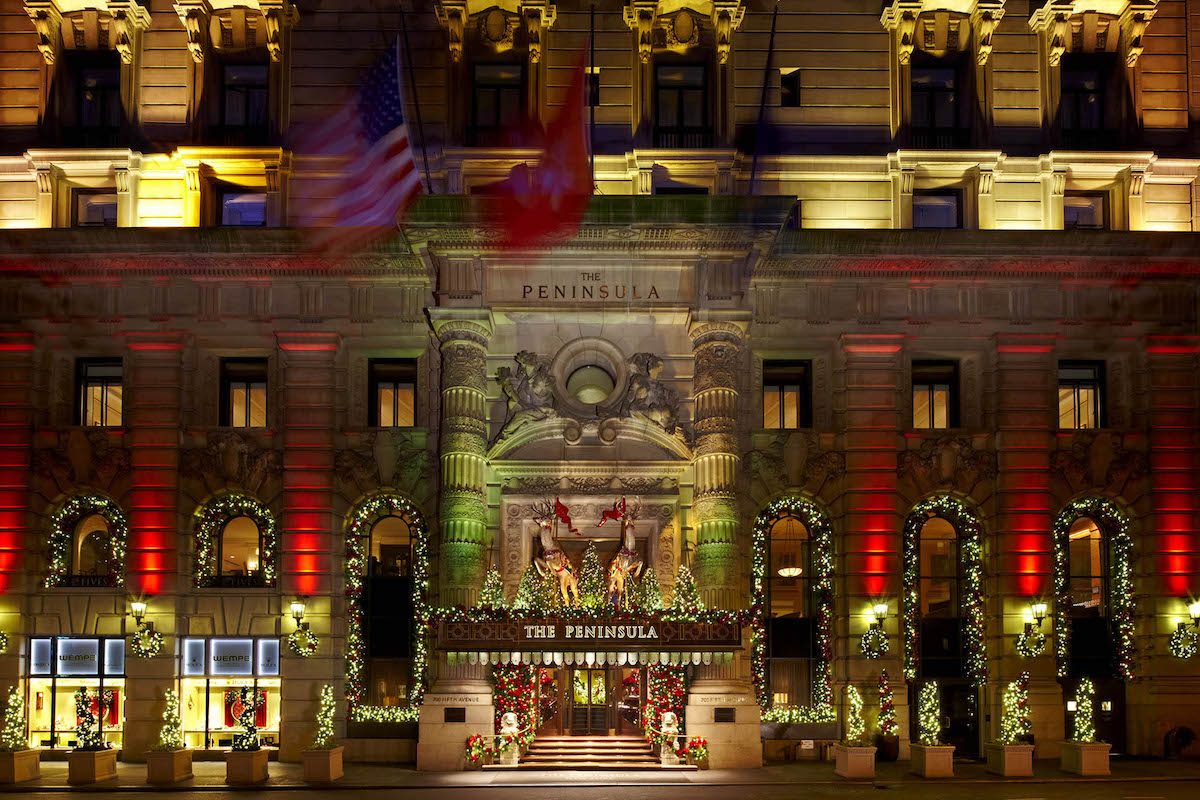 The Peninsula Hotel Holiday Decorations | New York City Holiday Guide