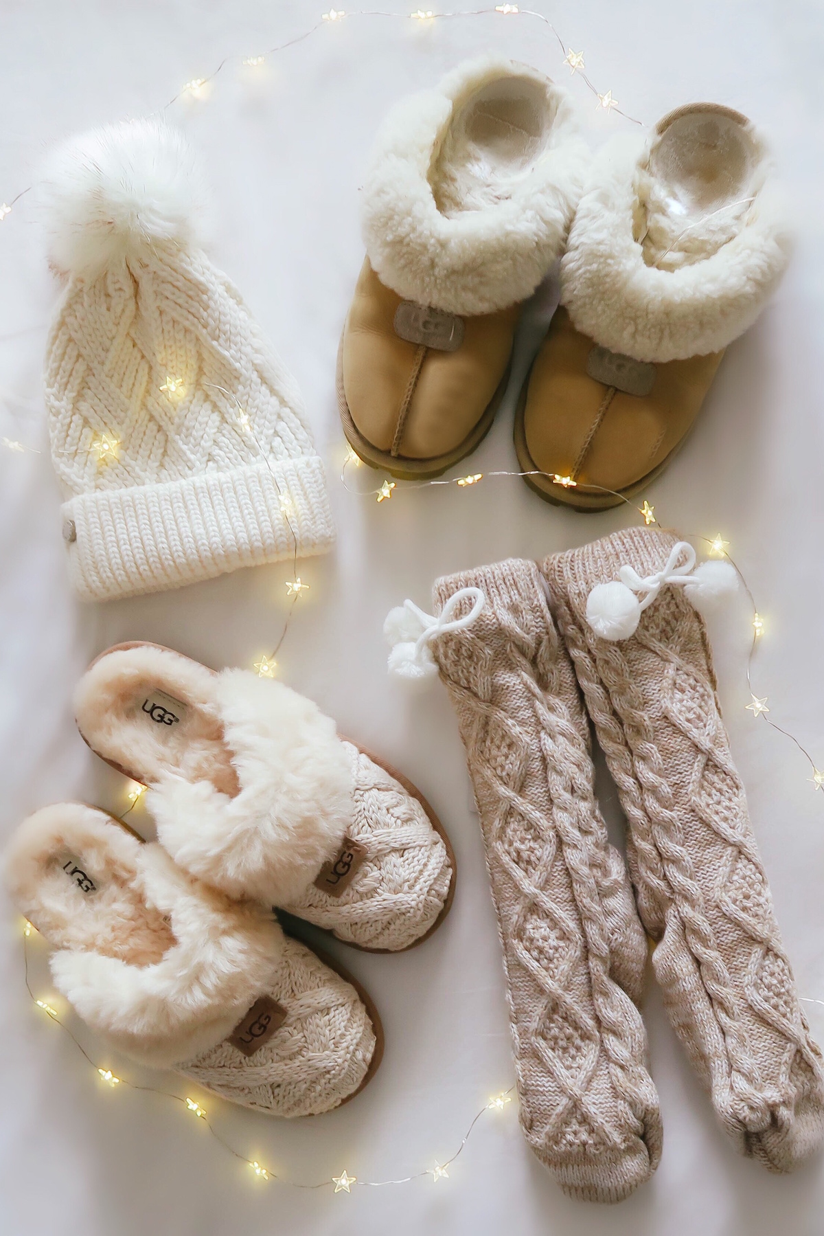 UGG Cable Slippers & Fleece Lined Socks