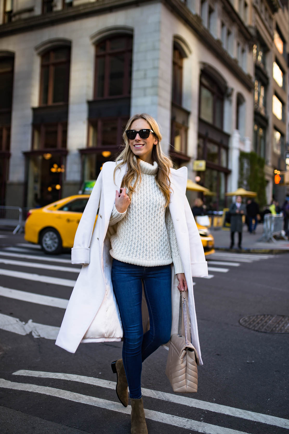 White Wool Peacoat