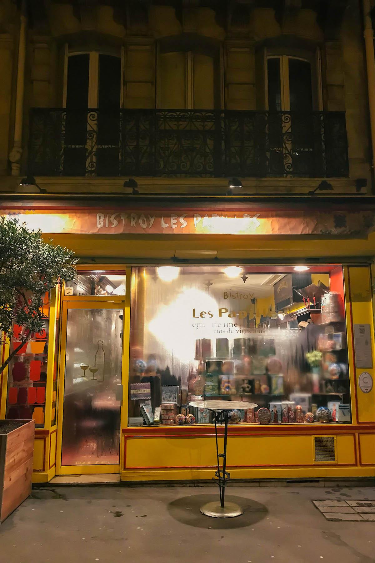 Bistro Les Papilles Paris Restaurant