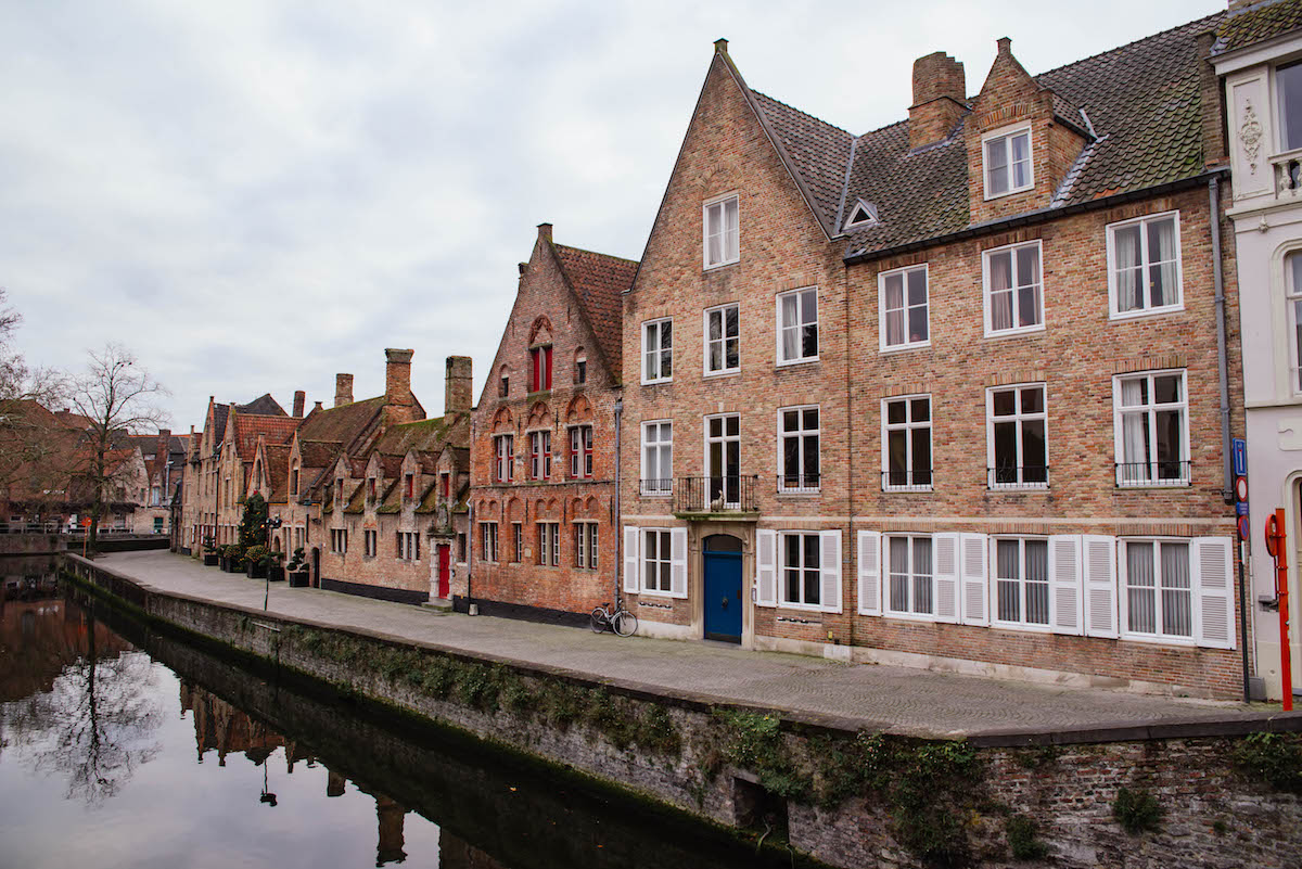 Bruges Belgium Canal Houses