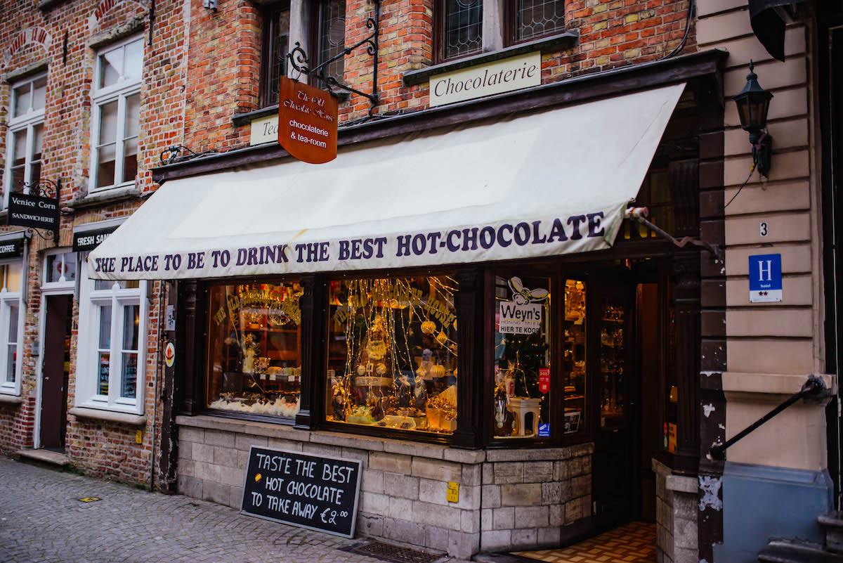 Bruges Belgium Chocolate Shops