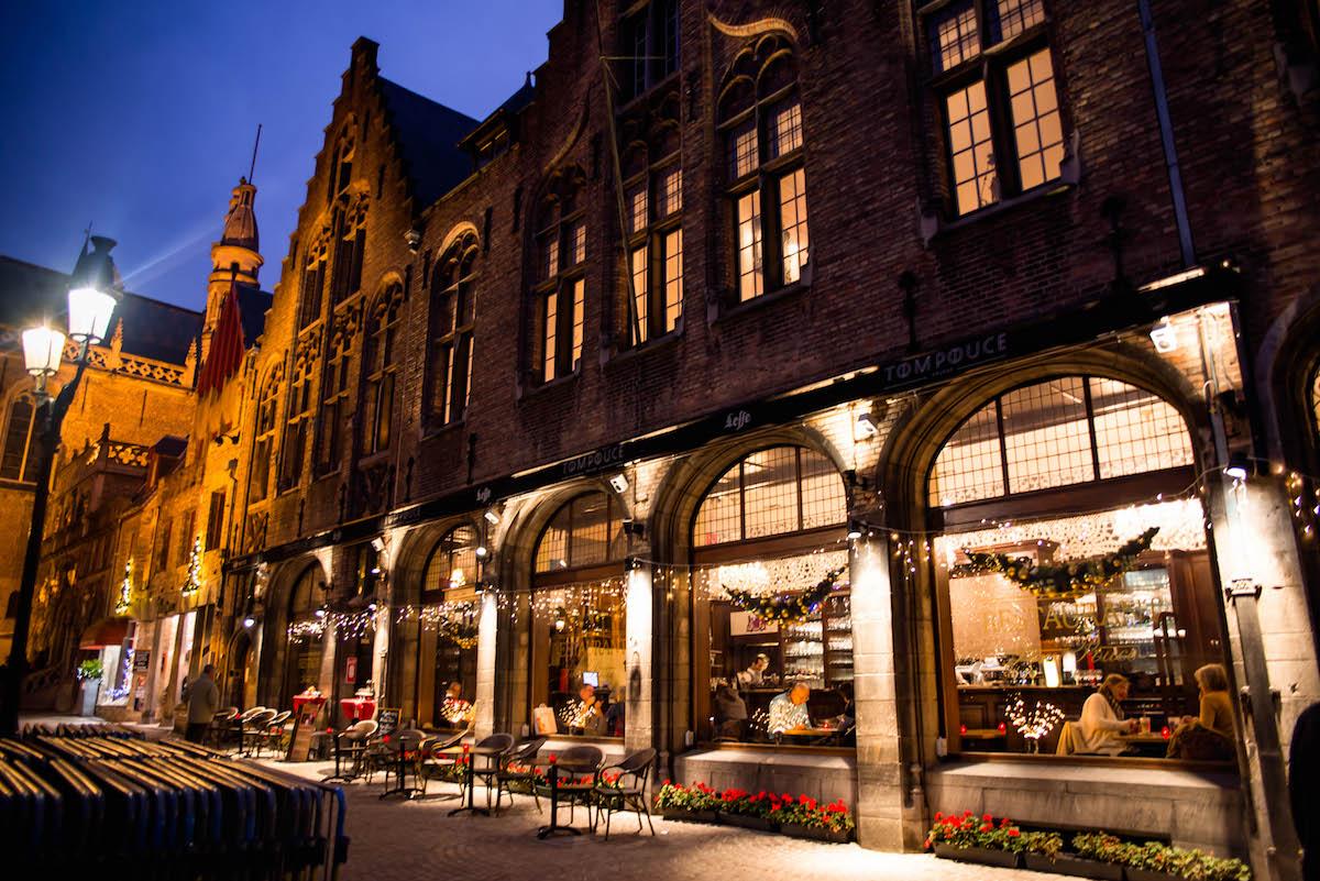 Bruges Belgium Christmas Lights