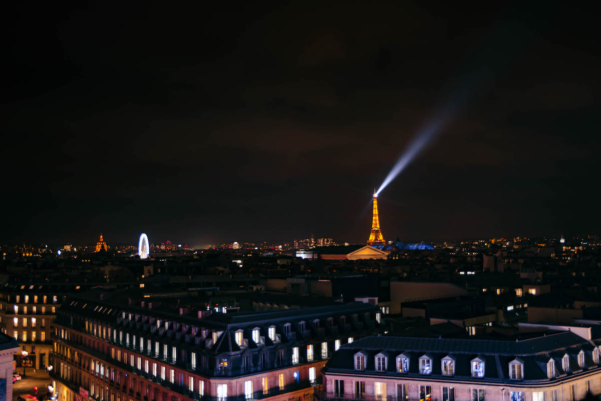 Eiffel Tower Light Show From Galleries Lafayette