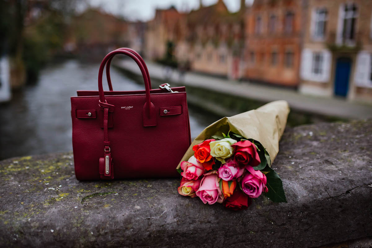 Saint Laurent Small Sac Du Jour Bag Red