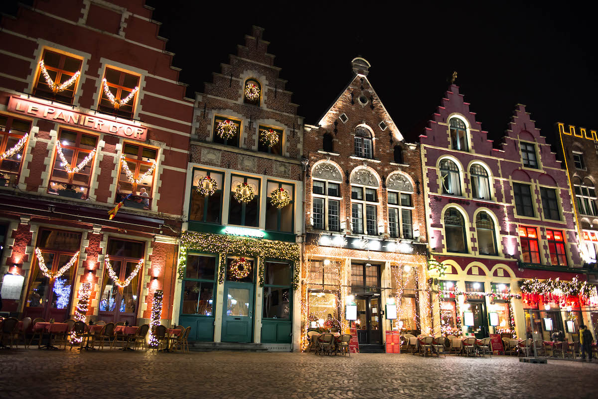 The Markt Bruges Christmas Lights