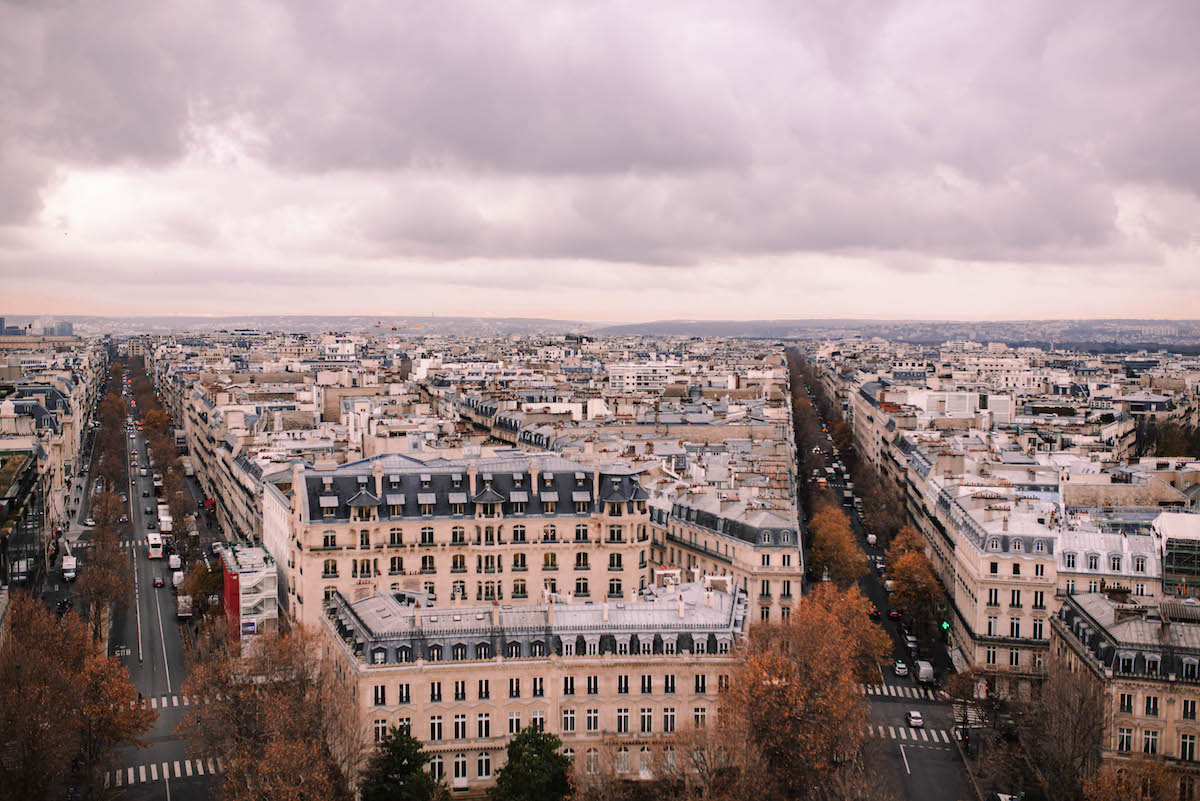 View of Paris From the Arc de Triomphe