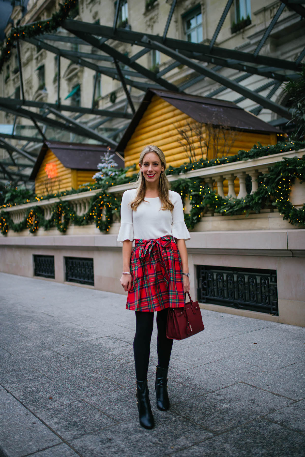 Vineyard Vines Plaid Taffeta Party Skirt