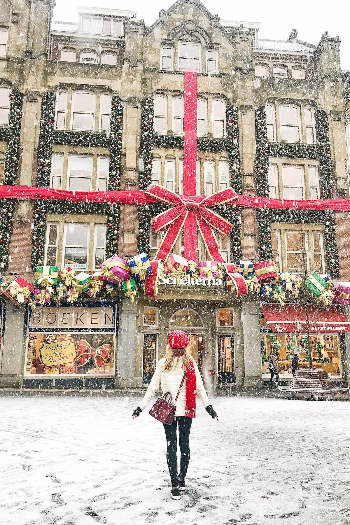 Dam Square Amsterdam Christmas Decorations