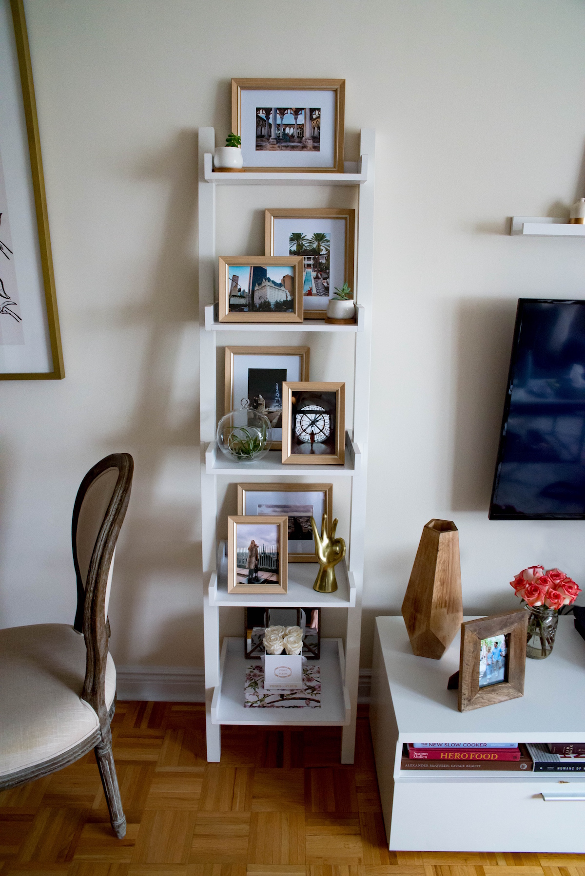 How To Style A Ladder Bookshelf