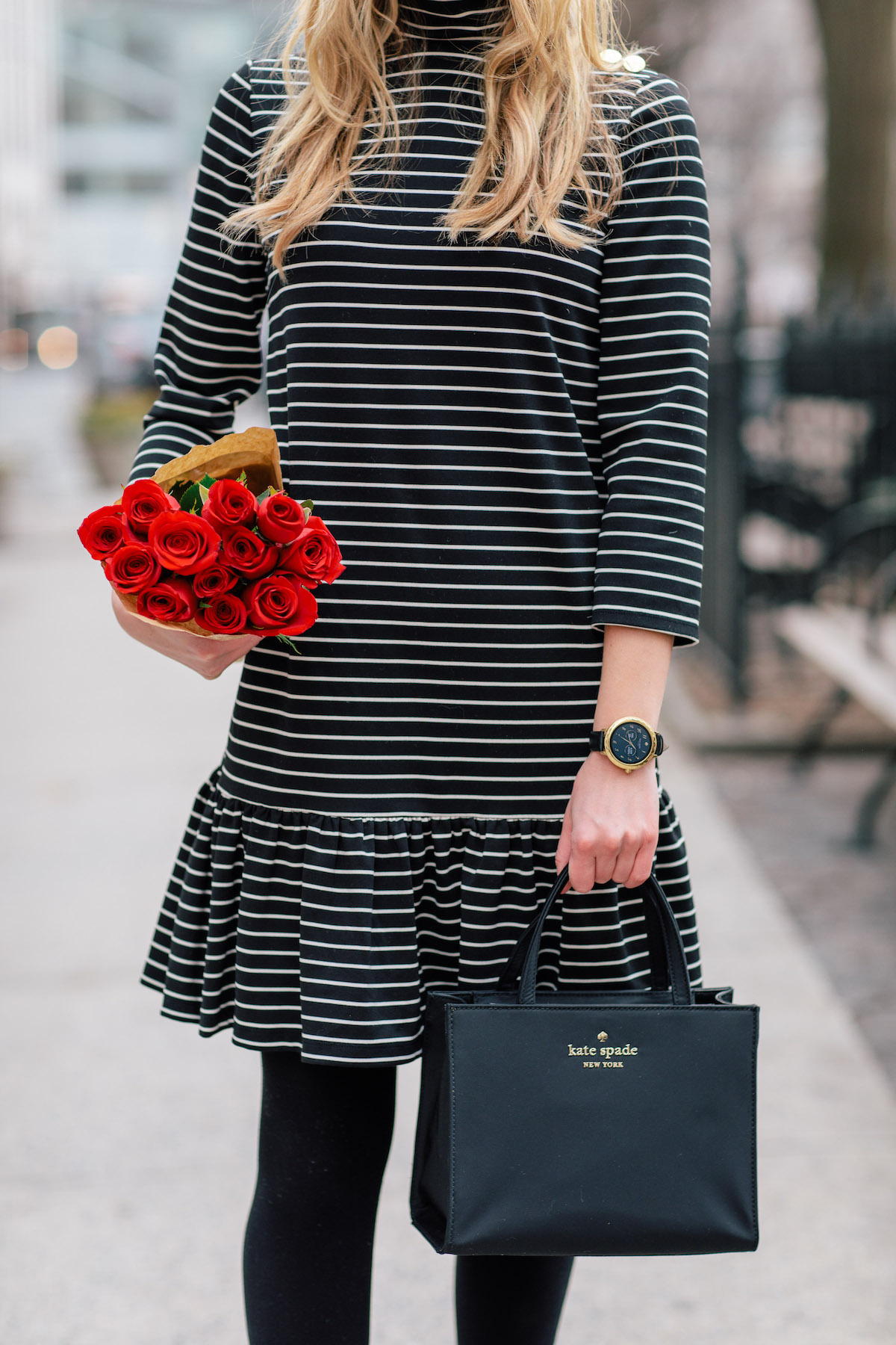Cheap In China Limited Edition Kate Spade New York Striped Wool Dress With Credit Card Buy Best 4AOEXK