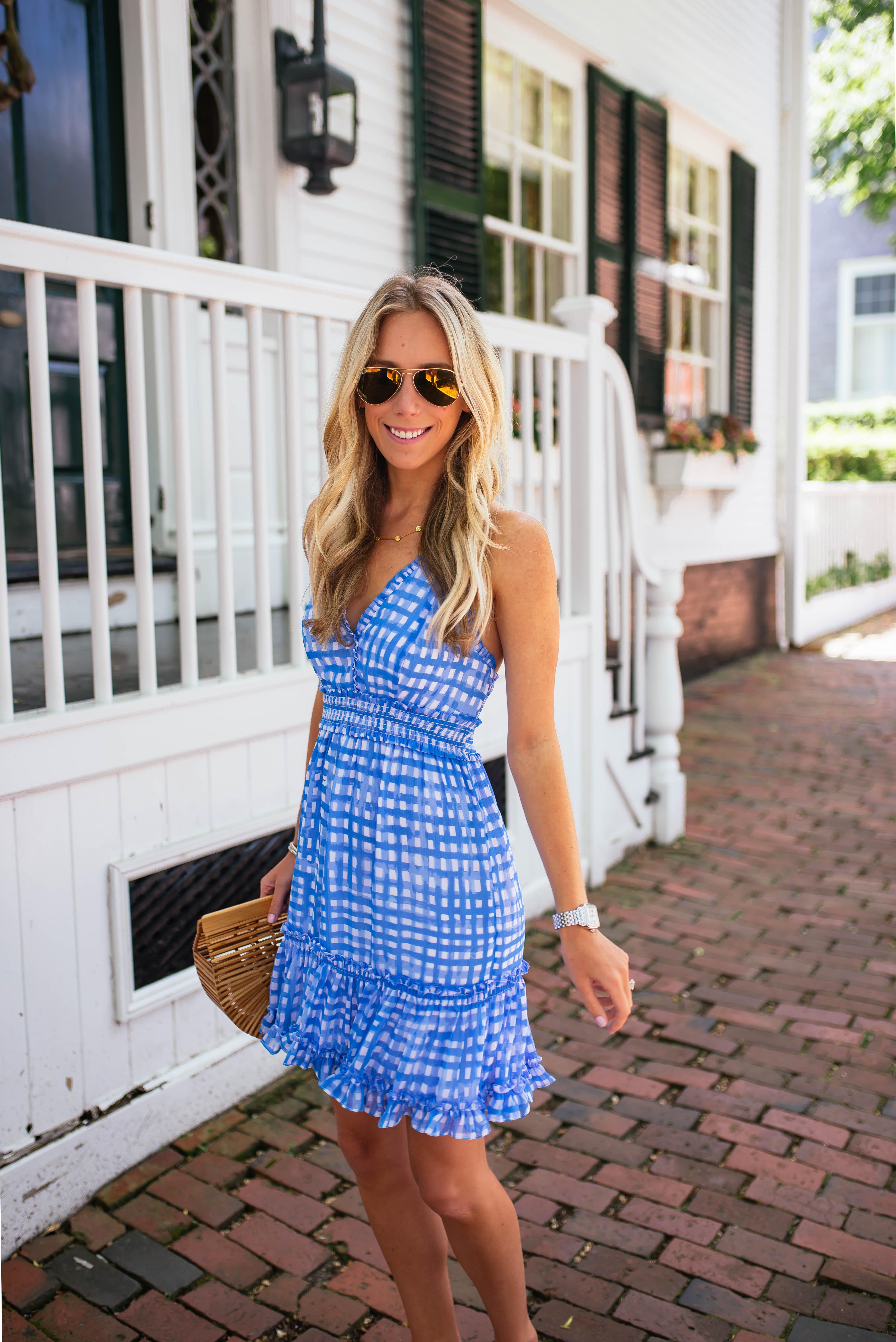 Lilly Pulitzer Gingham Halter Dress