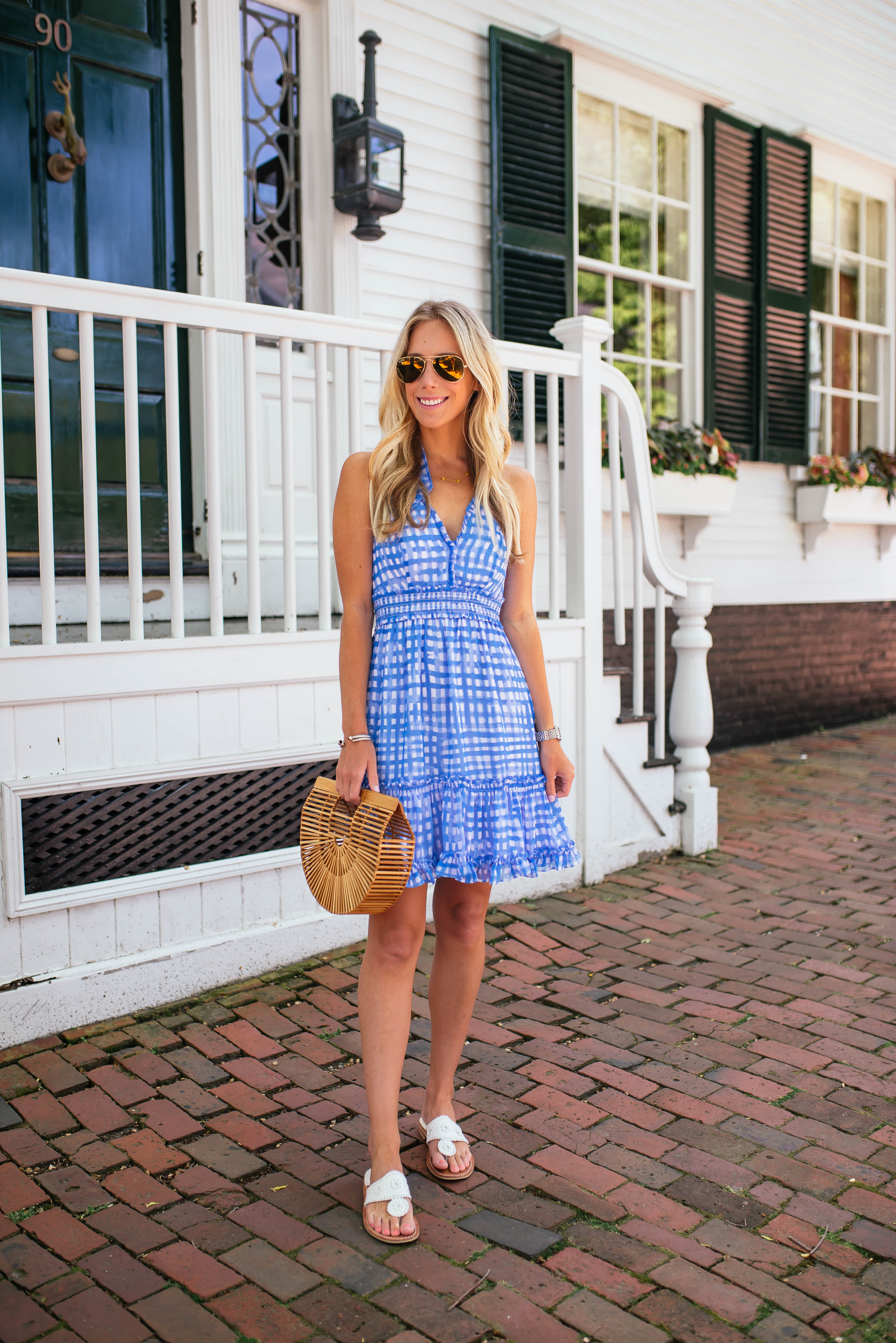 Lilly Pulitzer Gingham Halter Dress