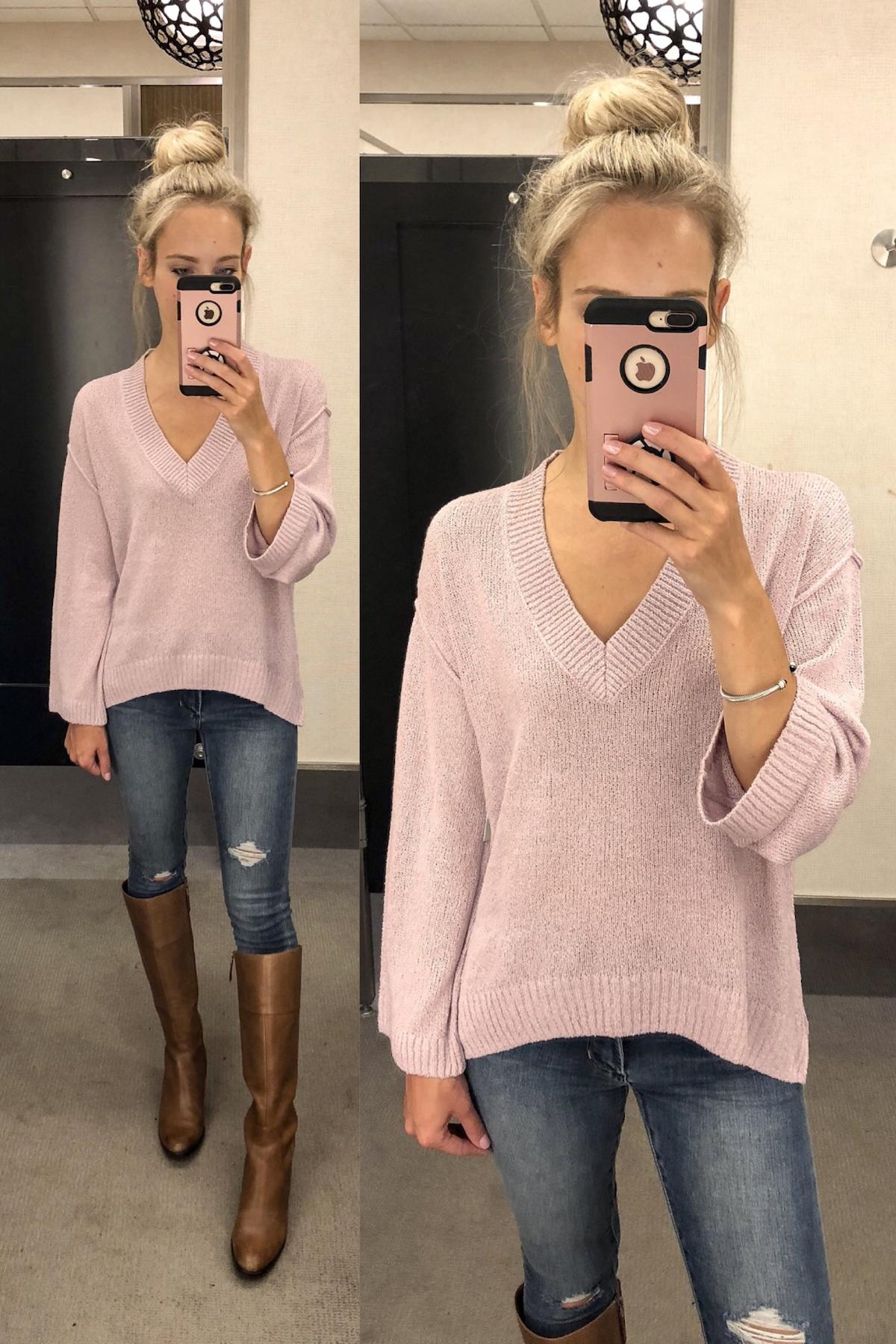 BP Textured Stitch V-Neck Sweater