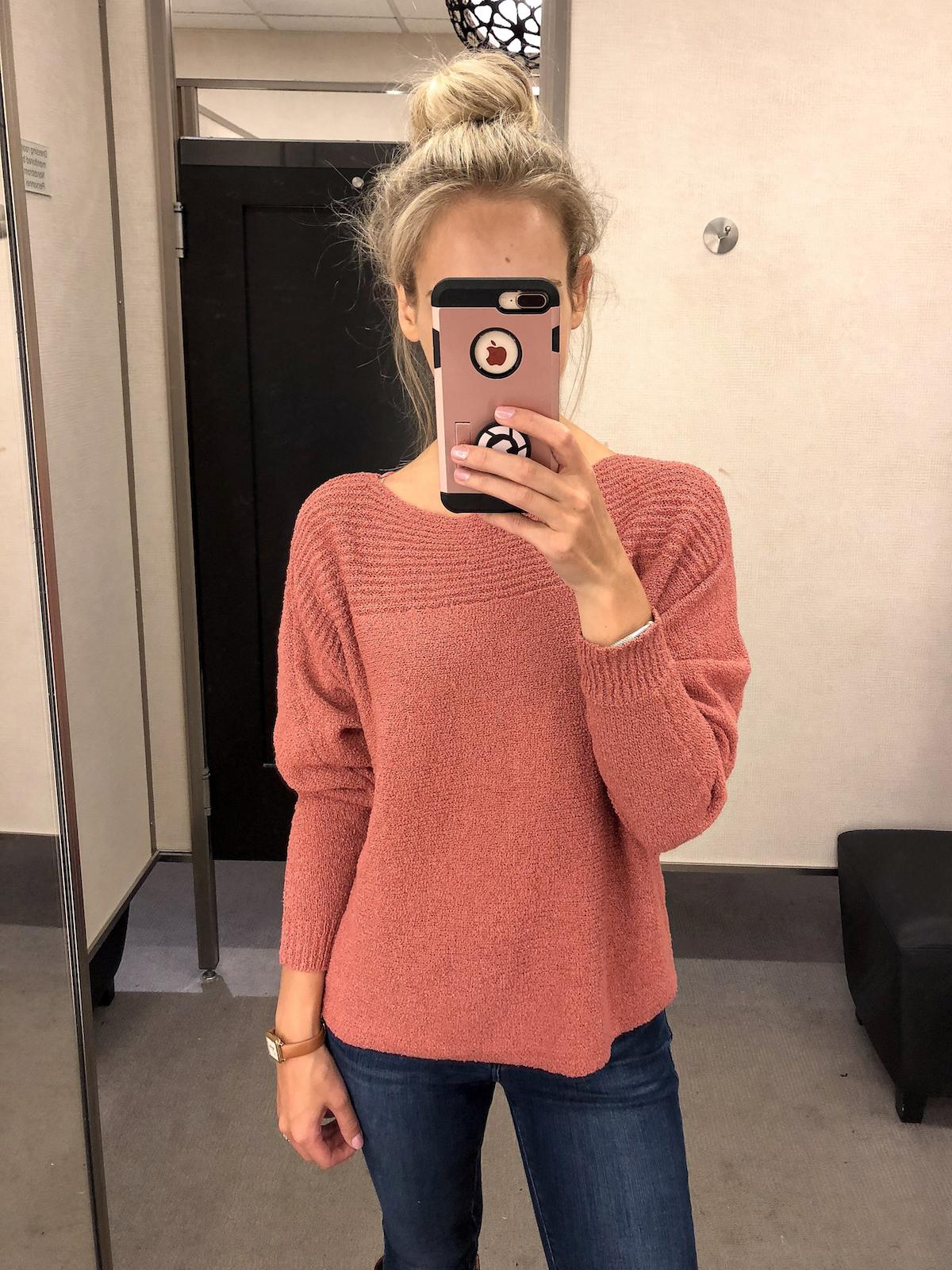Caslon Loop Stitch Crewneck Sweater