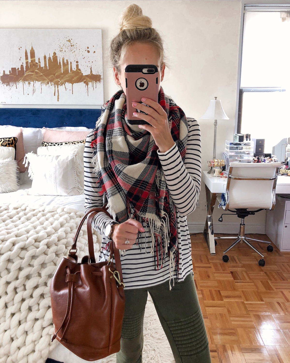Madewell Plaid Blanket Scarf