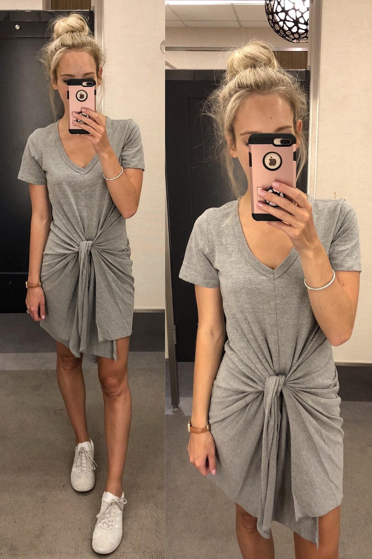 Socialite Tie Waist T-Shirt Dress