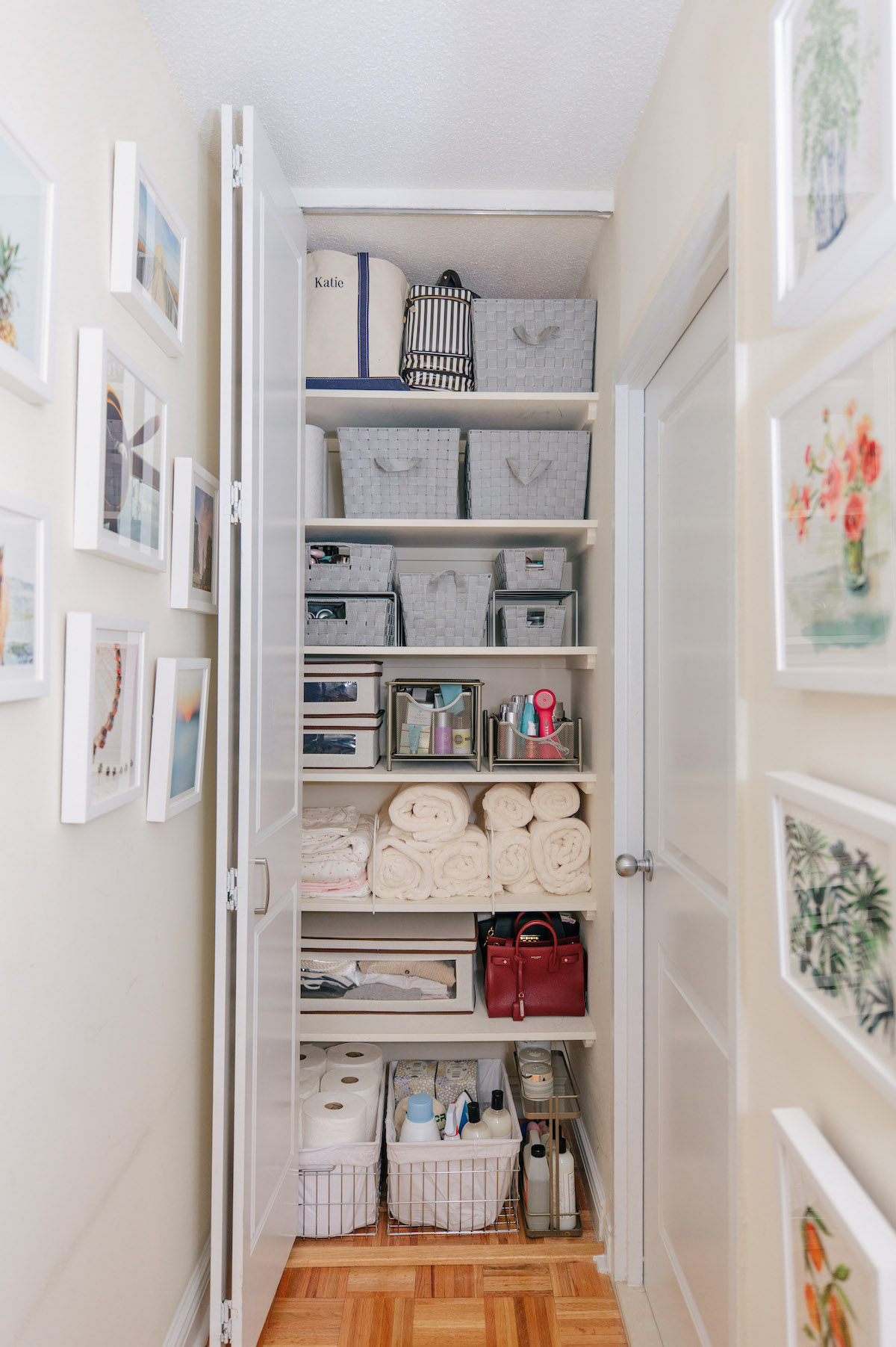 Picture of: Storage Closet Organization Bathroom Makeover Katie S Bliss