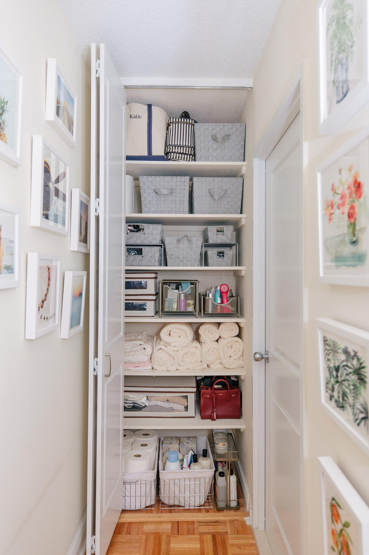 Storage Closet Organization Bathroom Makeover Katie S Bliss