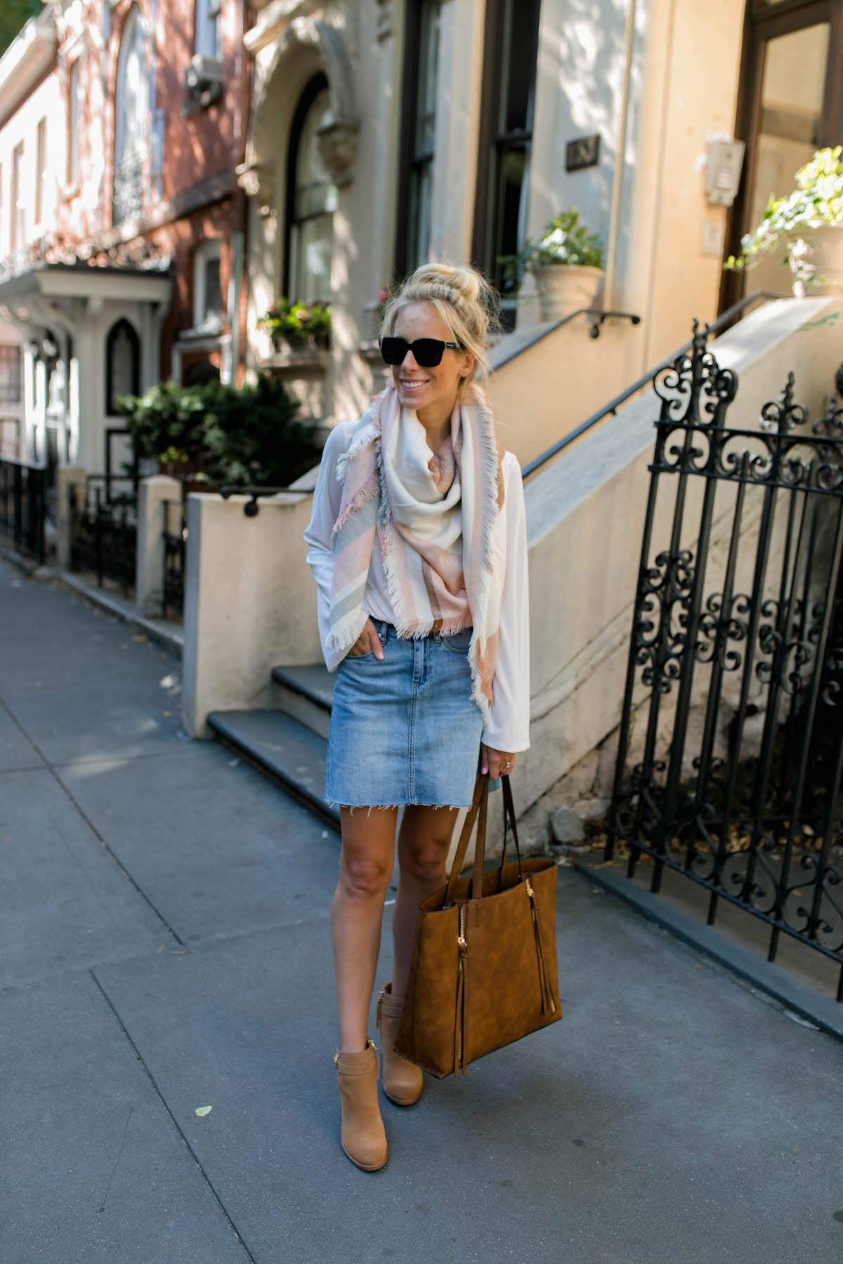 BlankNYC Raw Hem Denim Mini Skirt