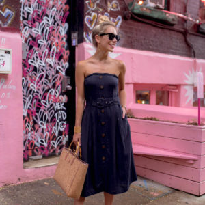 Denim Strapless Dress