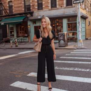 Splendid Cropped Wide-Leg Jumpsuit