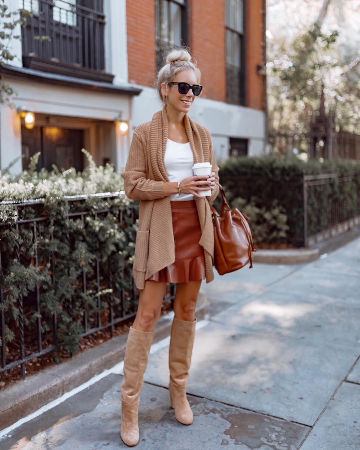 6483087481fd How To Style Short Skirts For Fall Weather