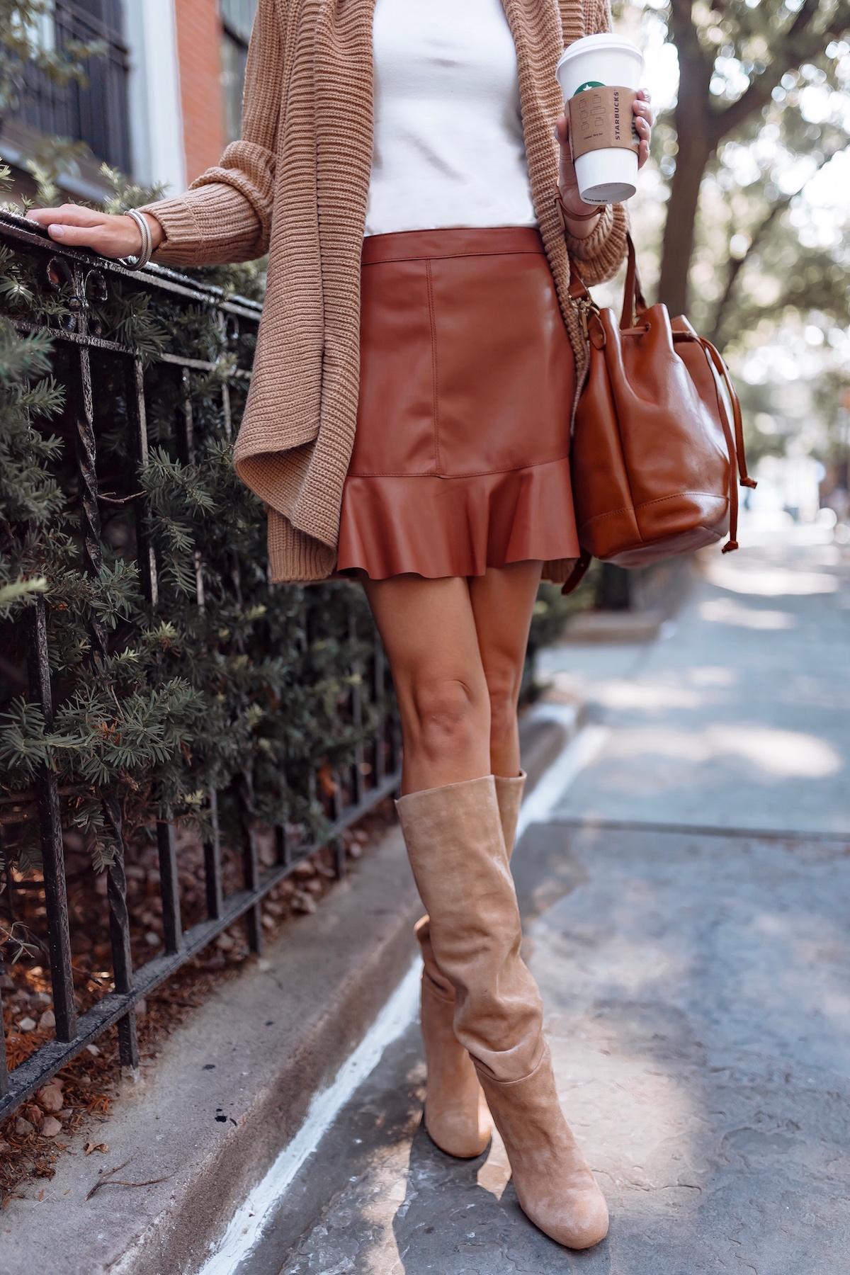 BB Dakota Vegan Leather Miniskirt