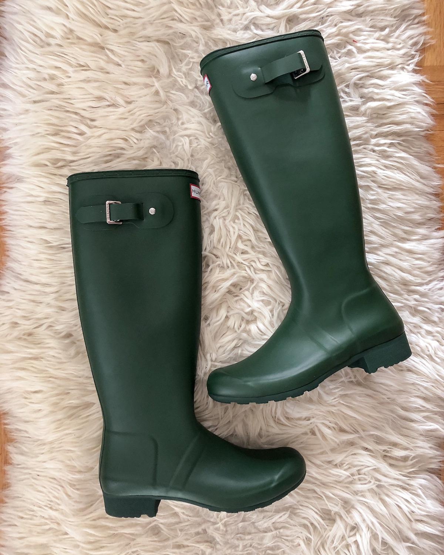 Green Hunter Tour Packable Rain Boot