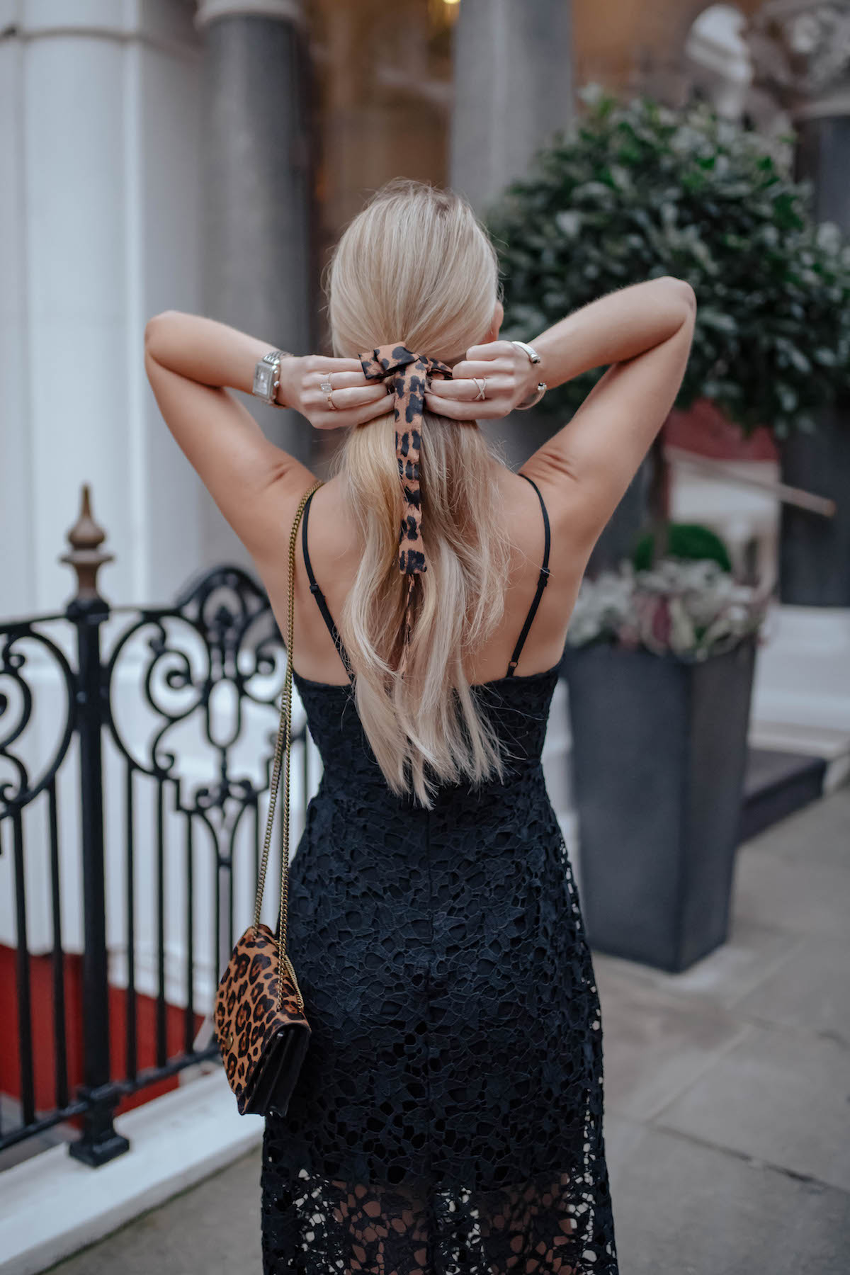 ASTR Black Lace Midi Dress
