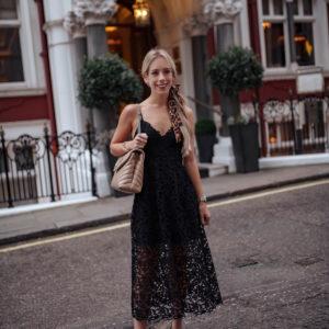 ASTR Black Lace Midi Dress