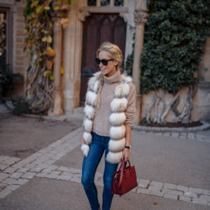 Anthropologie Faux Fur Vest