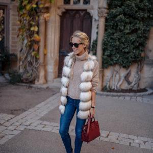 Anthropologie Faux Fur Vest